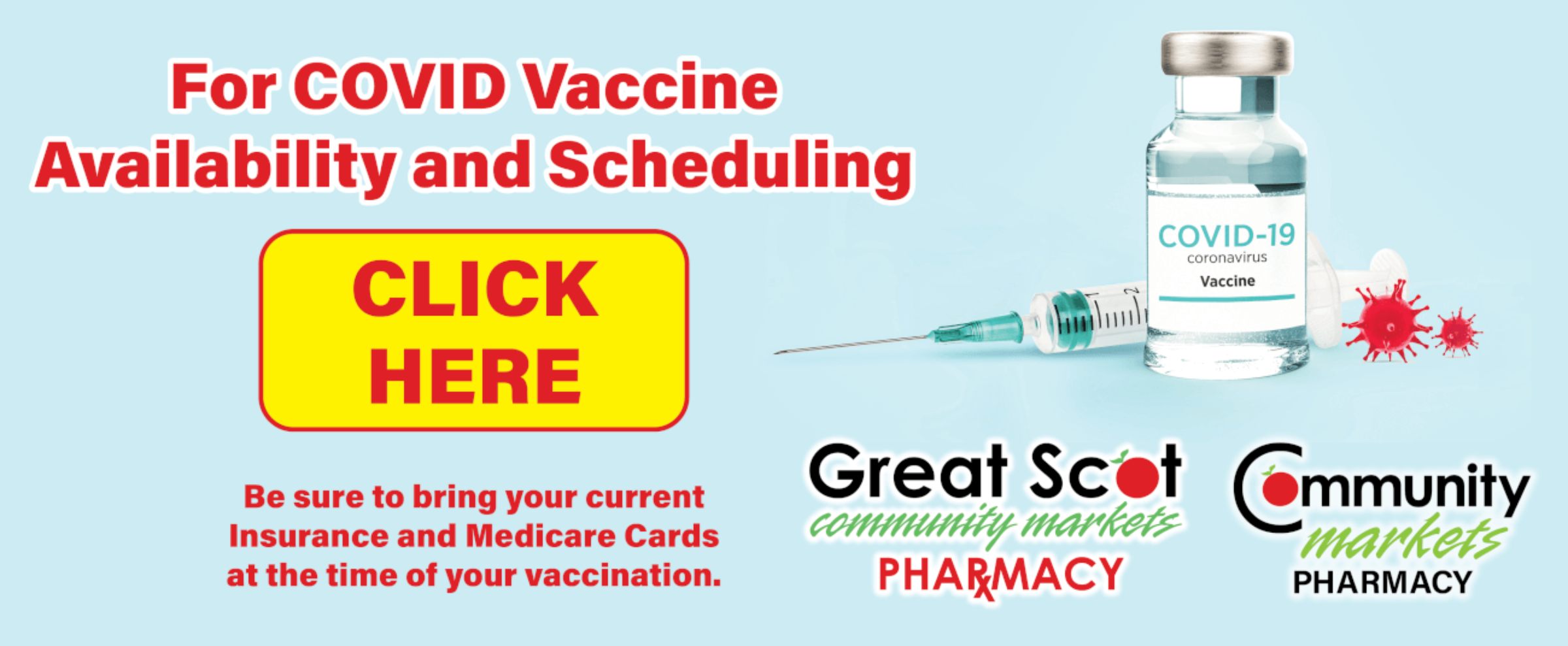 Click to check availability of COVID vaccines